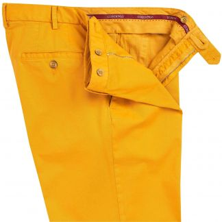 Cordings Corn Yellow Summer Gabardine Trousers Different Angle 1
