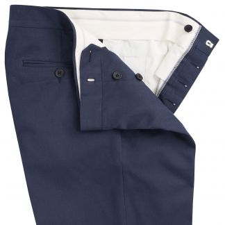 Cordings Navy Cotton Parade Fine Drill Trousers Different Angle 1