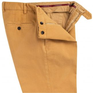 Cordings Mustard Cattrick Heavy Drill Trouser Different Angle 1