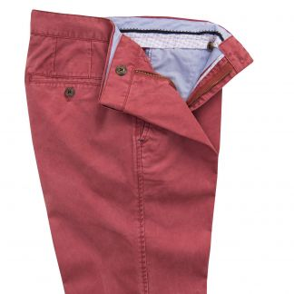 Cordings Brick Red Washed Twill Trousers Different Angle 1