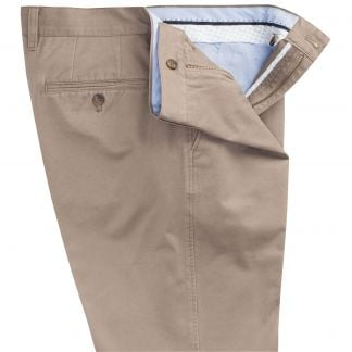 Cordings Taupe Washed Twill Trousers Different Angle 1