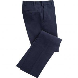 Cordings Navy Earl Moleskin Trousers Main Image