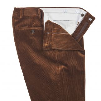 Cordings  Chestnut York Corduroy Trousers Different Angle 1