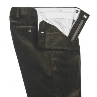 Cordings  Olive York Corduroy Trousers Different Angle 1