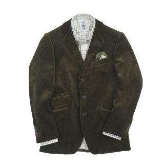 Cordings Olive York Corduroy Jacket  Different Angle 1