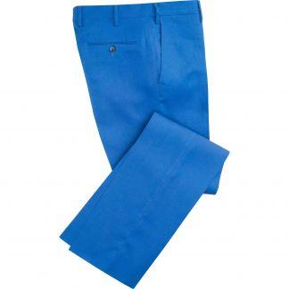 Cordings Royal Blue Middleton Linen Trousers Main Image