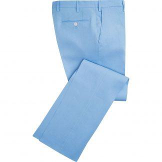 Cordings Sky Blue Middleton Linen Trousers Main Image