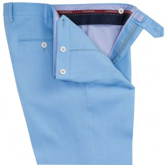 Cordings Sky Blue Middleton Linen Trousers Different Angle 1