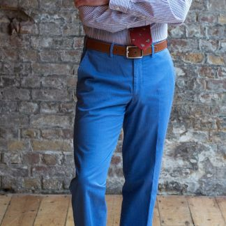Cordings Sky Blue Washed Twill Trousers Different Angle 1