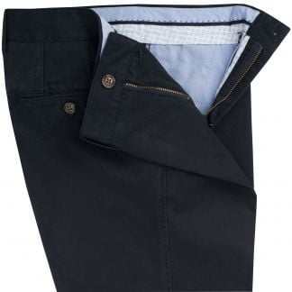 Cordings Navy Washed Twill Trousers Different Angle 1