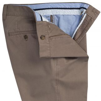 Cordings Light Taupe Brown Washed Twill Trousers Different Angle 1