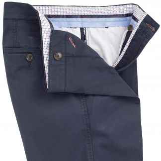 Cordings Navy Mowbray Washed Twill Trousers Different Angle 1