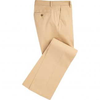 Cordings Yellow Mowbray Washed Twill Trousers Main Image