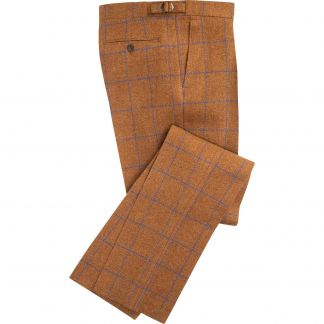 Cordings Rust Montague Shetland Tweed Trousers Main Image