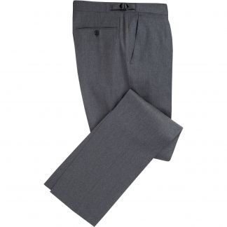 Cordings Grey Summer Flannel Pleated Trousers Main Image