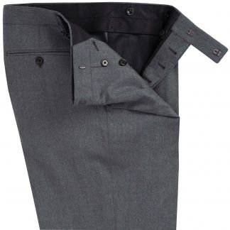 Cordings Grey Summer Flannel Pleated Trousers Different Angle 1