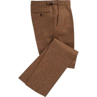 Cordings Brown Hunting Tweed Trousers Main Image