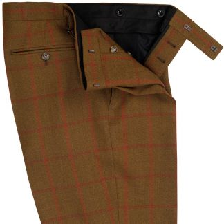 Cordings Brown Otley Tweed Trousers Different Angle 1