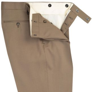 Cordings Taupe Wool Gabardine Trousers Different Angle 1