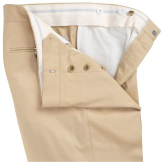 Cordings Khaki Cotton Gabardine Drill Suit Trousers Different Angle 1