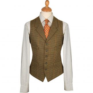 Cordings Sporting Check Tweed Waistcoat Main Image