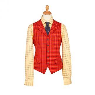 Cordings Stag Tattersall Wool Waistcoat Main Image