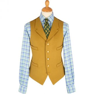 Cordings Yellow Collared Doeskin Waistcoat Main Image