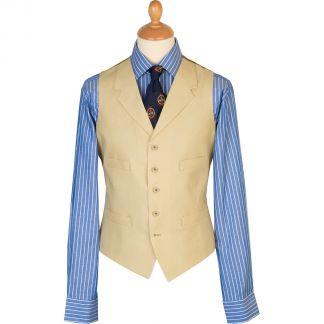 Cordings Sand Linen Waistcoat Main Image