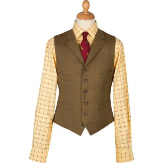 Cordings Redcar Lightweight Tweed Waistcoat Main Image