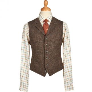 Cordings Bracken Derry Irish Donegal Tweed Waistcoat Main Image