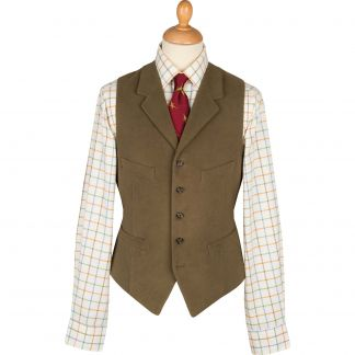 Cordings Lovat Earl Moleskin Waistcoat Main Image