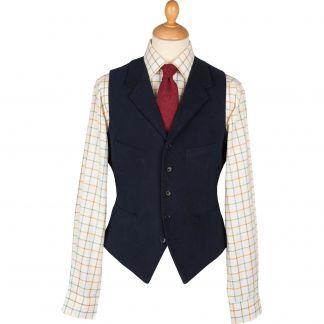 Cordings Navy Earl Moleskin Waistcoat Main Image