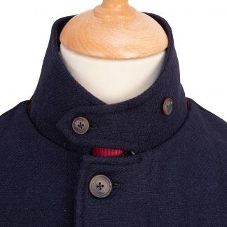 Cordings The Ebury Navy Tattersall Shetland Waistcoat Different Angle 1