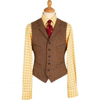 Cordings Brown Hunting Tweed Waistcoat Main Image
