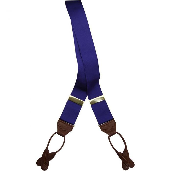 Mid Blue Barathea Braces