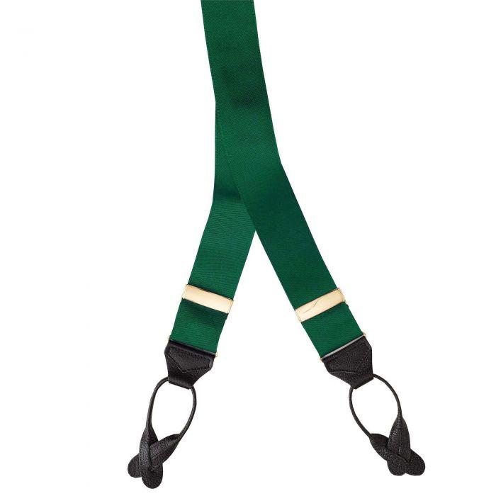 Green Barathea Ribbon Braces