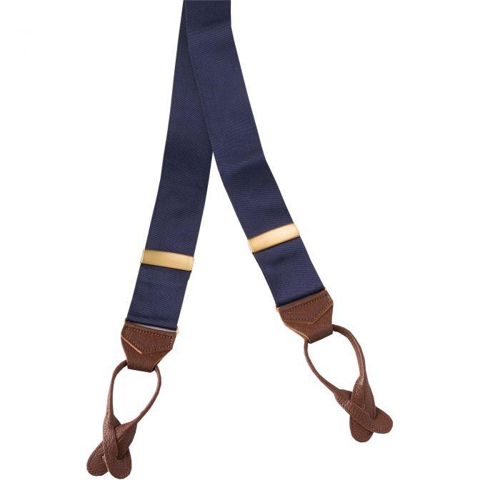 Navy Ribbon Braces
