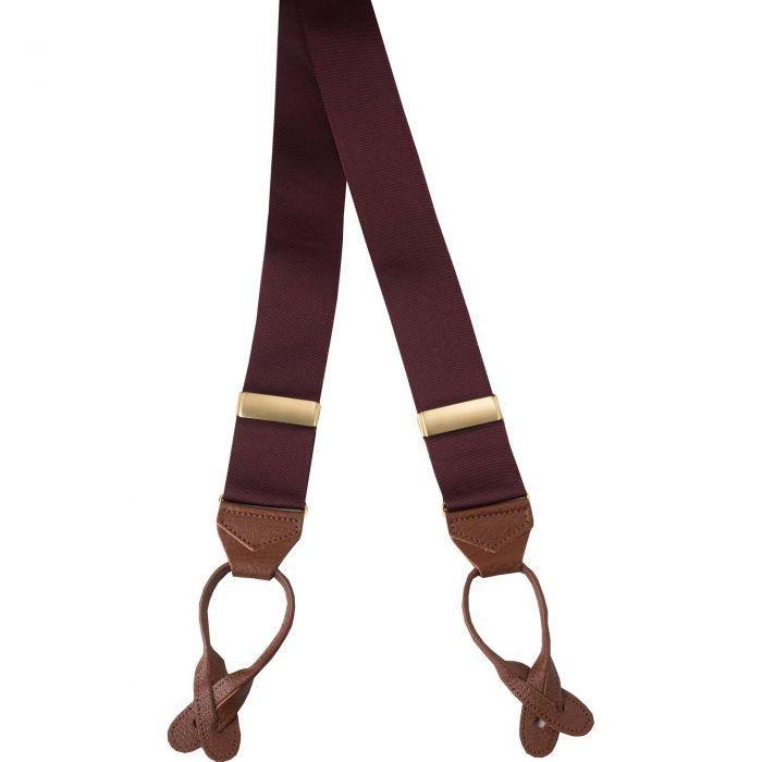 Claret Ribbon Braces