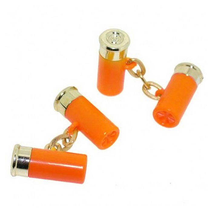Orange Cartridge Cufflinks