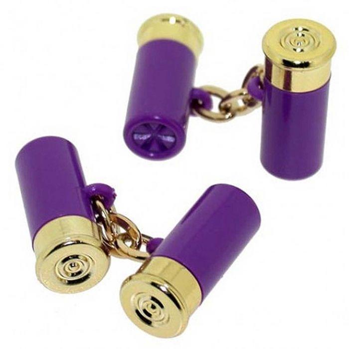 Purple Cartridge Cufflinks