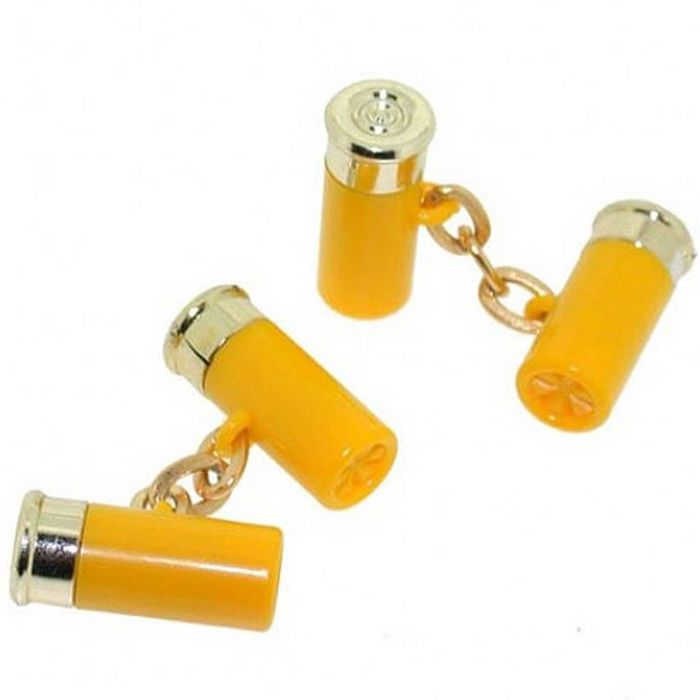 Yellow Cartridge Cufflinks