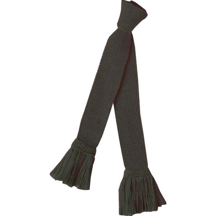 Loden Green Merino Garter Tie