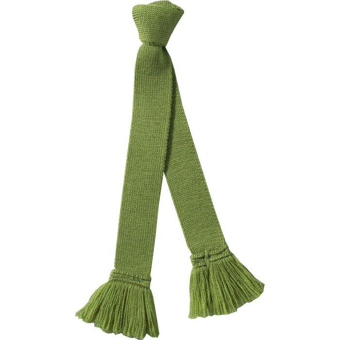 Sage Green Merino Garter Tie