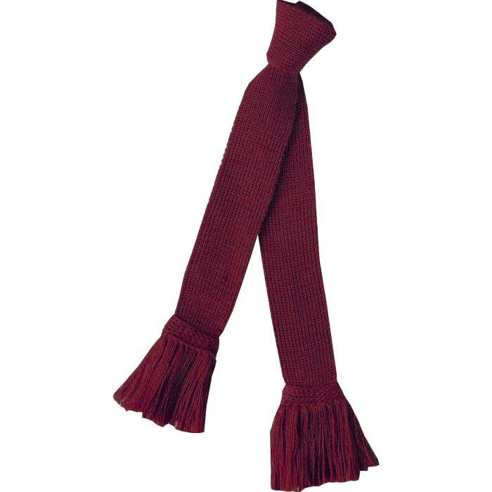 Claret Merino Garter Tie