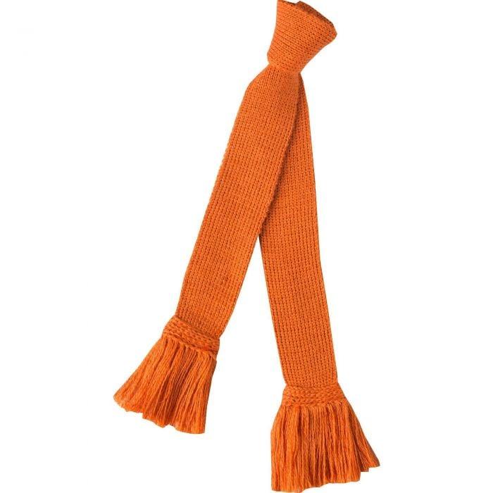 Orange Merino Garter Tie