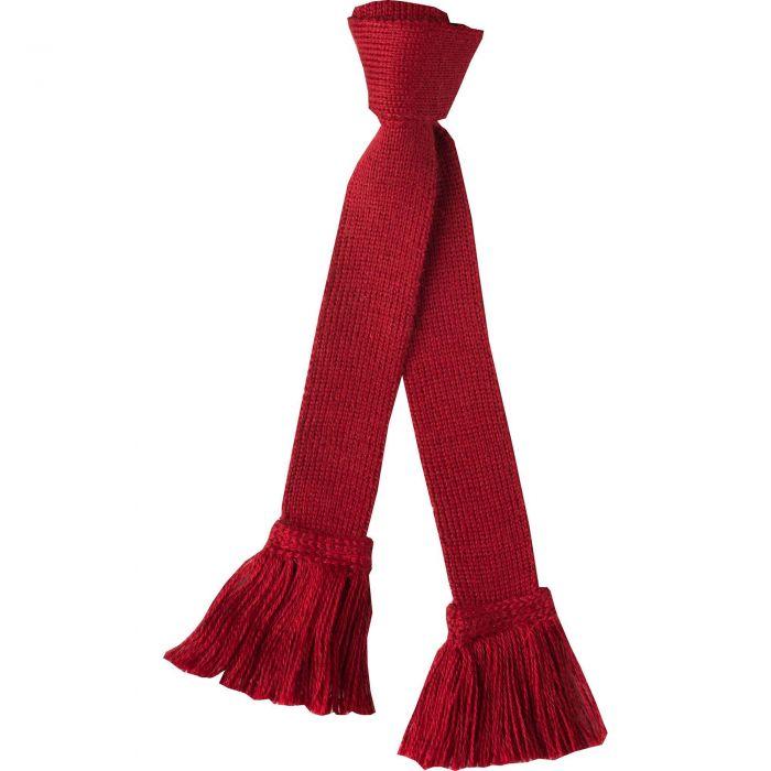 Brick Red Merino Garter Tie