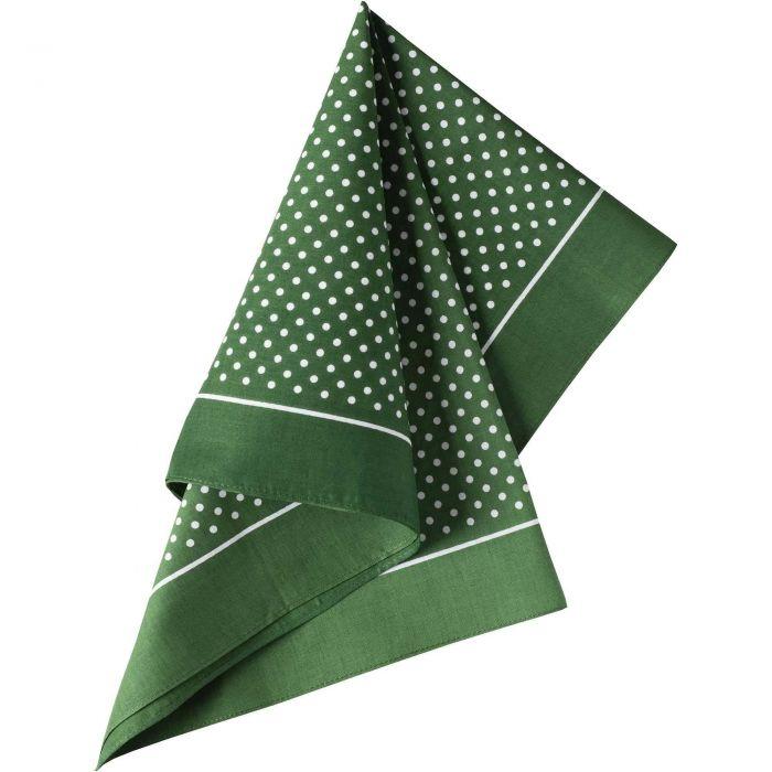 Green Spotty Cotton Bandana