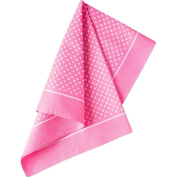 Pink Spotty Cotton Bandana