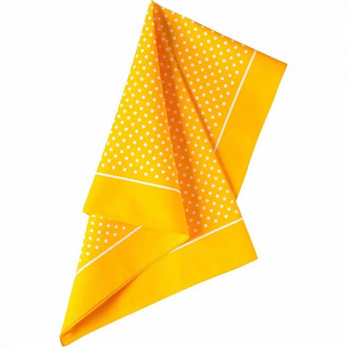 Yellow Spotty Cotton Bandana