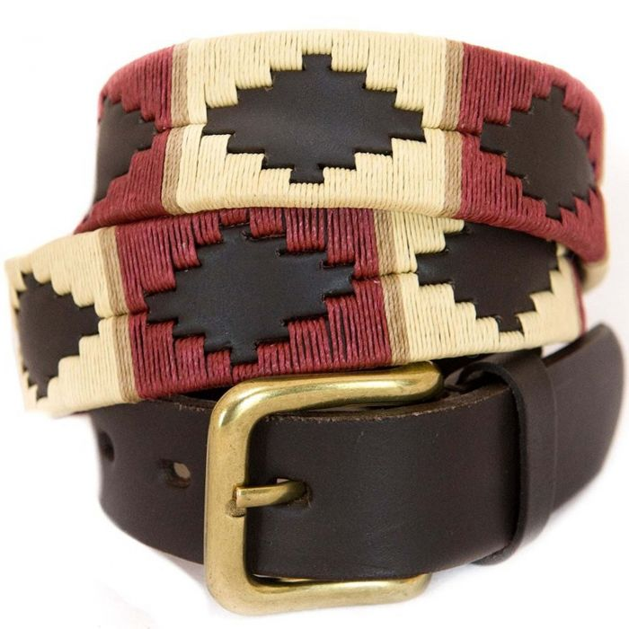 Cream Brown Argentinian Polo Belt